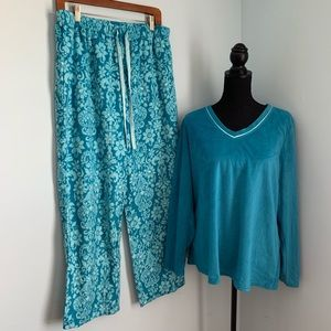 Liz Claiborne Blue Soft Pajama set large